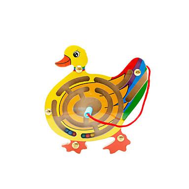 Muwanzi Klocki Labirynty i puzzle Układanka Luban Magnetyczne labirynty Zabawka edukacyjna Zabawki Magnetyczne Zabawne Kaczka Drewniany