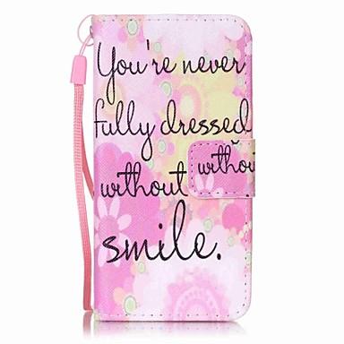 rózsaszín mosoly festés pu telefon tok alma itouch 5 6 ipod tok / borító