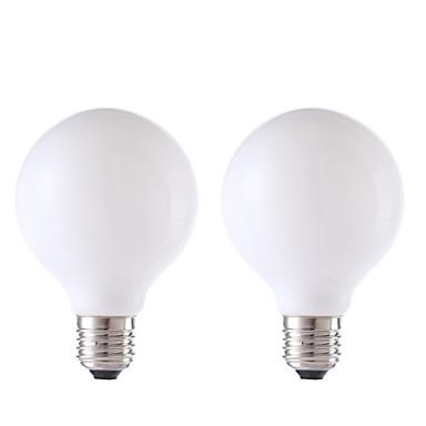 GMY® 2pcs 450 lm E26/E27 Żarówka dekoracyjna LED G80 4 Diody lED COB Ciepła biel AC 220-240 V