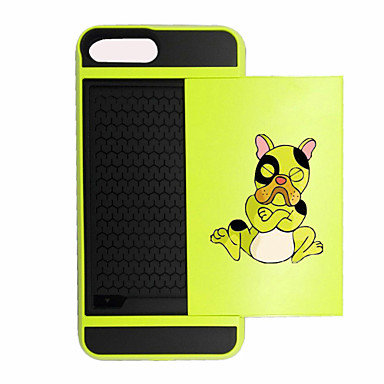 Kılıf Na Apple Etui iPhone 5 iPhone 6 iPhone 7 Etui na karty Odporne na wstrząsy Czarne etui Pies Twarde PC na iPhone 7 Plus iPhone 7