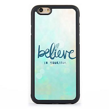 제품 아이폰7케이스 아이폰6케이스 아이폰5케이스 케이스 커버 패턴 뒷면 커버 케이스 단어 / 문구 하드 알루미늄 용 Apple 아이폰 7 플러스 아이폰 (7) iPhone 6s Plus iPhone 6 Plus iPhone 6s 아이폰 6