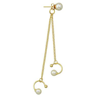 Damskie Pearl imitacja Kolczyki wiszące - Gold Kolczyki Na Codzienny / Casual