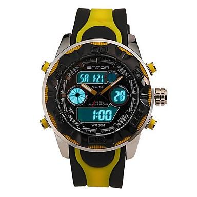 Męskie Zegarek na nadgarstek Inteligentny zegarek Wojskowy Modny Sportowy Cyfrowe Kwarc japoński Chronograf Wodoszczelny LED Srebrzysty