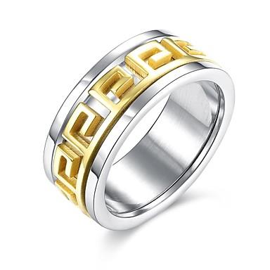 Férfi Gyűrű Eljegyzési gyűrű Klasszikus Divat Rozsdamentes acél Arannyal bevont Ékszerek Esküvő Parti Napi Hétköznapi Sport