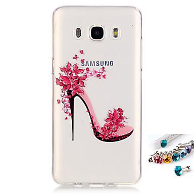 Etui Käyttötarkoitus Samsung Galaxy J7 (2016) J5 (2016) IMD Läpinäkyvä Kuvio Takakuori Sexy Lady Pehmeä TPU varten J7 (2016) J7 J5 (2016)