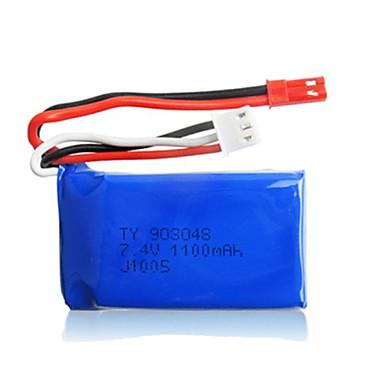 2pcs / pack wltoys 7.4v 1100mAh lipo JST bateria para k929 a949 a959 A969 a979 baterias de carros alta velocidade inicial