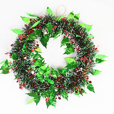 홈 파티 직경 35cm를위한 크리스마스 화 환 소나무 바늘 크리스마스 장식 새 해 공급 NAVIDAD