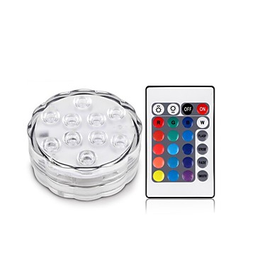 1Pcs 무선 Others Rgb 10Led Smd5050 4.5v Remote Waterproof Vase Lamp 멀티색상
