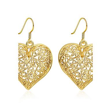 Pentru femei Lung Cercei Picătură - Placat Auriu Inimă De Bază Auriu Pentru Nuntă / Petrecere / Zilnic