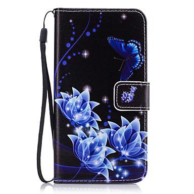 tok Για Samsung Galaxy J7 Prime J5 Prime Θήκη καρτών Πορτοφόλι με βάση στήριξης Πλήρης Θήκη Λουλούδι Σκληρή PU δέρμα για J7 Prime J7