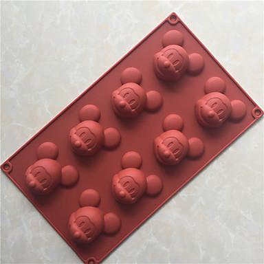 Forma do pieczenia Lód Czekoladowy Pizza Placek Cupcake Ciasteczka Tort Chleb Other Silikonowy DIY Wysoka jakość 3D Nieprzylepny