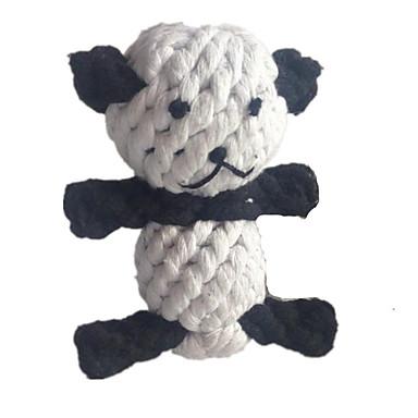 Kissan lelu Koiran lelu Lemmikkieläinten lelut Purulelut Hampaidenpuhdistus lelu Köysi Kudottu Panda