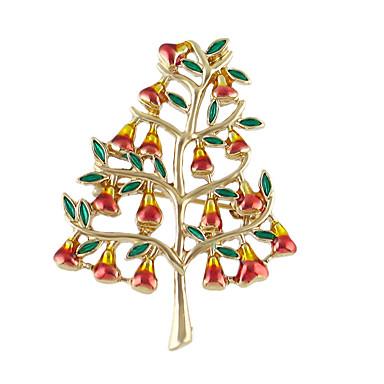 Nowe drzewo szkliwa kształt Narodzenie broszki prezenty
