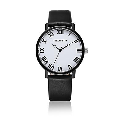 Damskie Kwarcowy Zegarek na nadgarstek / Na codzień Skóra Pasmo Na co dzień Modny Czarny Biały