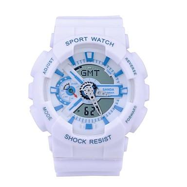 SANDA Dijital Japon Kuvartz Bilek Saati Akıllı İzle Asker Saat Spor Saat Kronograf Su Resisdansı LED Gece Parlayan Kronometre Çift Zaman