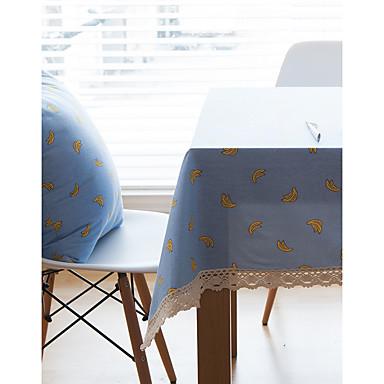 Dörtgen Çiçekli Desenli Masa Örtüleri , Linen Malzeme Otel Yemek Masası Tablo Dceoration