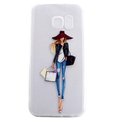 케이스 제품 Samsung Galaxy S7 edge S7 투명 패턴 뒷면 커버 섹시 레이디 소프트 TPU 용 S7 edge S7