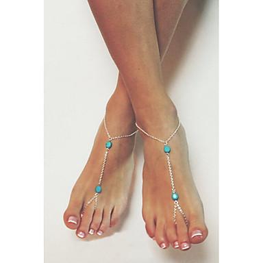 Kadın's Kadın Ayak bileziği/Bilezikler Platinum minimalist tarzı Avrupa Mücevher Uyumluluk Düğün Parti Günlük