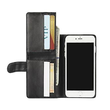 Için Cüzdan / Kart Tutucu / Satandlı / Flip Pouzdro Tam Kaplama Pouzdro Solid Renkli Sert PU Deri için AppleiPhone 7 Plus / iPhone 7 /