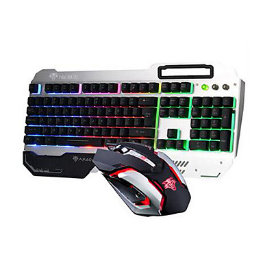 top wired gaming keyboard with mobilephone holder and wired 3200dpi mouse kit for pc 5381494. Black Bedroom Furniture Sets. Home Design Ideas