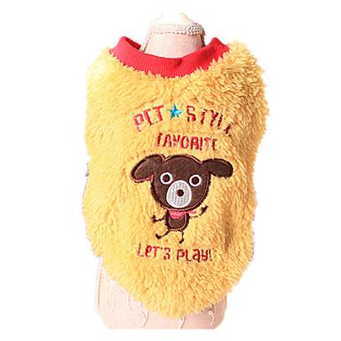 Σκύλος Πουλόβερ Ρούχα για σκύλους Διατηρείτε Ζεστό Ζώο Κίτρινο Μπλε Στολές Για κατοικίδια