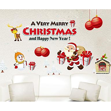 Karácsony Falimatrica Repülőgép matricák Dekoratív falmatricák Hűtőmágnesek Anyag Eltávolítható lakberendezési fali matrica