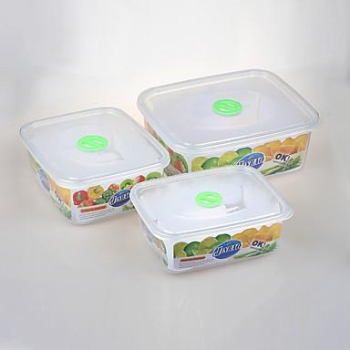3 Kuchnia Plastik Pudełka śniadaniowe