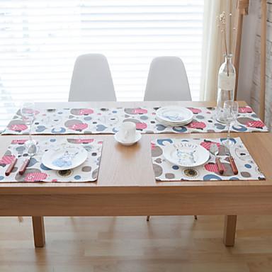 Prostokątny Wzorzyste Bieżniki , Mieszanka bawełny Materiał Hotel Stół Tabela Dceoration