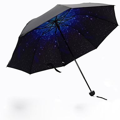 Mavi Katlanan Şemsiye Güneş Şemsiyesi Plastic Bebek Arabası