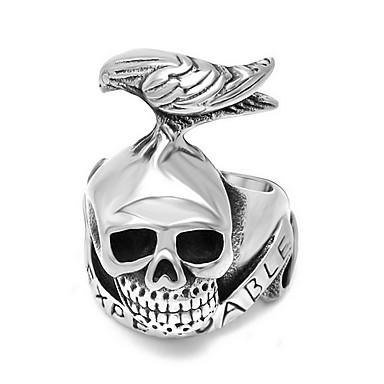 Ανδρικά Εντυπωσιακά Δαχτυλίδια Ασήμι Στερλίνας Skull shape Κοσμήματα Για Καθημερινά Causal