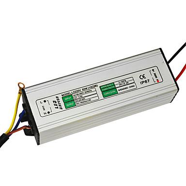 jiawen 50w 1500ma led güç kaynağı ac 85-265v led sabit akım led sürücü adaptörü trafo (dc 30-36v çıkış)