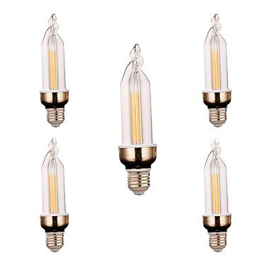YWXLIGHT® 5pcs 300-400lm E26 / E27 Sisustusvalaisimet 2 LED-helmet COB Koristeltu Lämmin valkoinen Kylmä valkoinen 220V