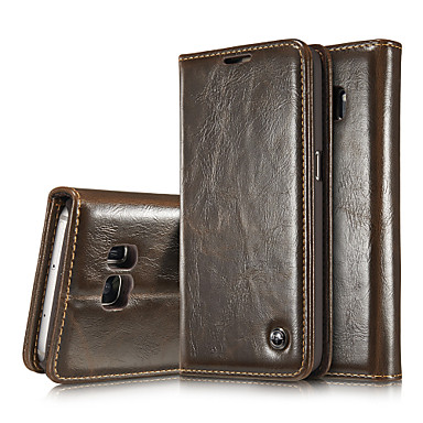 Case For Samsung Galaxy Samsung Galaxy Note Wallet / Card Holder / with Stand Full Body Cases Solid Colored Genuine Leather for Note 5 Edge / Note 5 / Note 4
