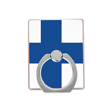 Finlandiya bayrağı plastik halka tutacağı / 360 cep telefonu için dönen iphone 8 7 samsung galaxy s8 s7
