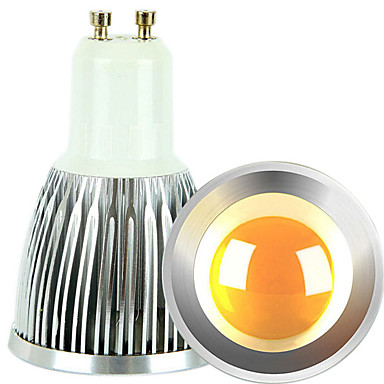 gu10 led spotlight 1 cob 600lm sıcak beyaz soğuk beyaz 2700-3000k / 6000-6500k kısılabilir ac 220-240 ac 110-130v