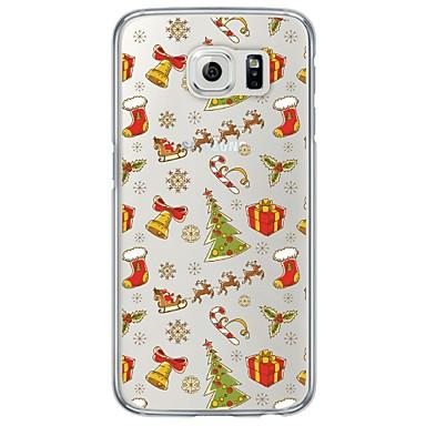 Недорогие Чехлы и кейсы для Galaxy S6 Edge-Кейс для Назначение SSamsung Galaxy S7 edge / S7 / S6 edge Ультратонкий / Полупрозрачный Кейс на заднюю панель Рождество Мягкий ТПУ