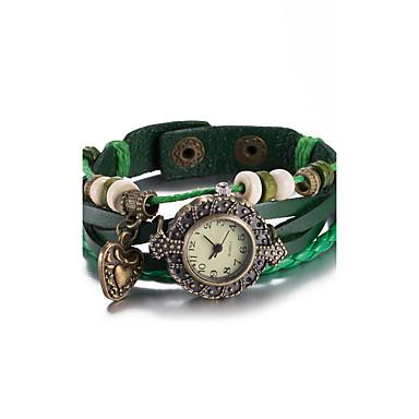 Kadın's Moda Saat Bilek Saati Bilezik Saat Quartz Su Resisdansı Deri Bant Eski Tip Bohem Halhal Siyah Beyaz Mavi Kırmızı Kahverengi Yeşil
