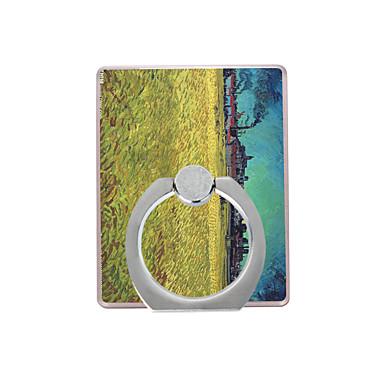 olajfestmény minta műanyag gyűrű tartó / 360 forgó mobiltelefon iphone 8 7 samsung galaxis s8 s7