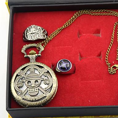 시계/손목시계 더 많은 악세서리 에서 영감을 받다 One Piece 에드워드 뉴게이트 에니메이션 코스프레 악세서리 시계/손목시계 반지 합금