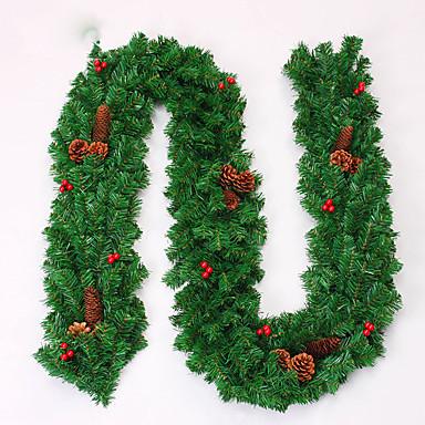 karácsonyi koszorú tűlevelek karácsonyi dekoráció házibuli átmérője 27cm navidad új év kellékek