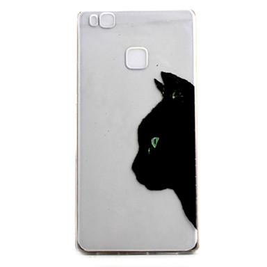 화웨이 p9 p9 라이트 케이스 커버 검은 고양이 패턴 높은 투자율 그림 tpu 소재 전화 케이스