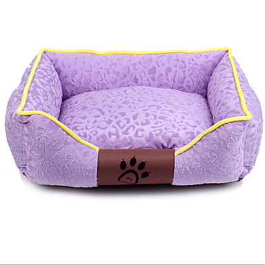Köpek Yataklar Evcil Hayvanlar Mat & Pedler Miękki Günlük/Sade Sevimli Fuşya Kahve Kırmzı Yeşil Mavi Evcil hayvanlar için