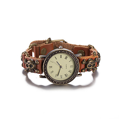 Damskie Modny Zegarek na nadgarstek Zegarek na bransoletce Kwarcowy Wodoszczelny Skóra Pasmo Postarzane Lebky Artystyczny