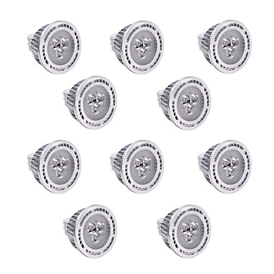 YWXLIGHT® 10pcs 300lm GU5.3(MR16) Żarówki punktowe LED T 3 Koraliki LED SMD 3030 Przysłonięcia Dekoracyjna Ciepła biel Zimna biel 12V