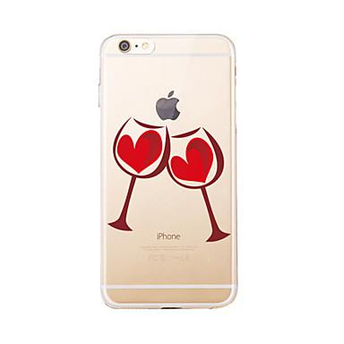 Kılıf Na Apple Etui iPhone 5 iPhone 6 iPhone 7 Półprzezroczyste Wzór Czarne etui Rysunek Miękkie TPU na iPhone 7 Plus iPhone 7 iPhone 6s