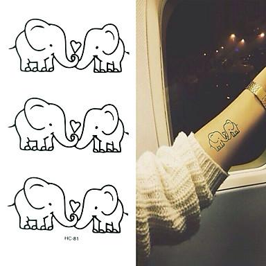 Αυτοκόλλητα Τατουάζ Σειρά Άνιμαλ Κινούμενα σχέδια Μωρά Παιδικά Γυναικεία Αντρικά Flash Tattoo προσωρινή Τατουάζ