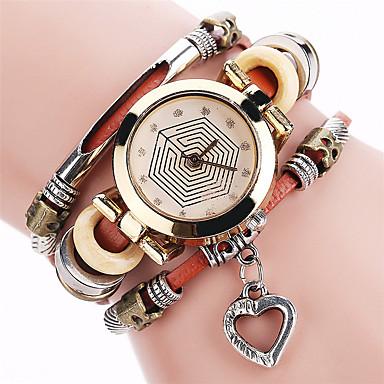 Pentru femei Simulat Diamant Ceas Unic Creative ceas Ceas Brățară Ceas La Modă Ceas Casual Chineză Quartz cald Vânzare Aliaj Piele Bandă