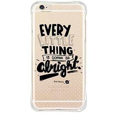 إلى ضد الصدمات غطاء غطاء خلفي غطاء جملة / كلمة ناعم TPU إلى Apple iPhone 6s Plus/6 Plus / iPhone 6s/6 / iPhone SE/5s/5