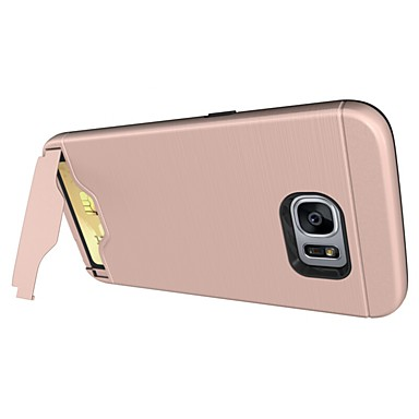 Case For Samsung Galaxy S8 Plus S8 Card Holder with Stand Back Cover Solid Color Hard PC for S8 Plus S8 S7 edge S7