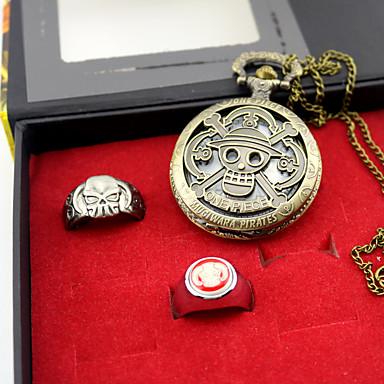 Óra/Karóra / Még több kiegészítő Ihlette One Piece Ace Anime Szerepjáték Kiegészítők Óra/Karóra / gyűrű Aranyozott Ötvözet